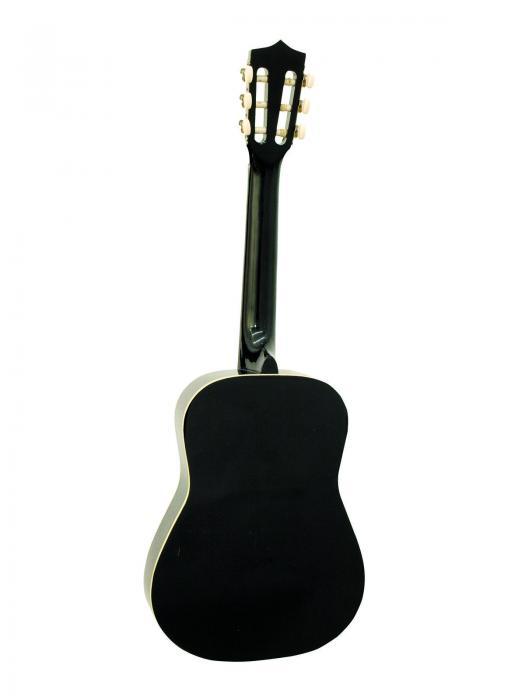 DIMAVERY AC-300 Lasten kitara musta, klassinen akustinen kitara 1/2 koko 85cm, nylonkielet, sisältää kitarapussin.
