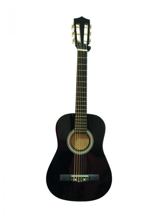DIMAVERY AC-300 Lasten kitara musta, kla, discoland.fi