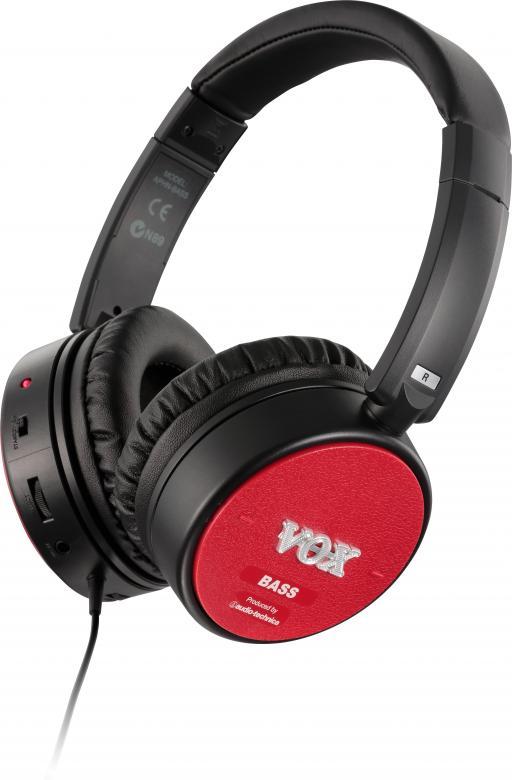VOX Kuuloke amPhones on älykäs yhdistelmä: umpinaiset Audio Technica ™ -laatukuulokkeet ja Voxin ylistetty Valve Reactor (VR) vahvistinteknologia kitaralle ja bassolle