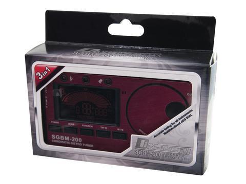 DIMAVERY SGBM-200 Digitaalinen viritysmittari metronomilla, suorat kitara-, basso-, viulu-, ja ukulele -modet ja kromaattinen viritys!