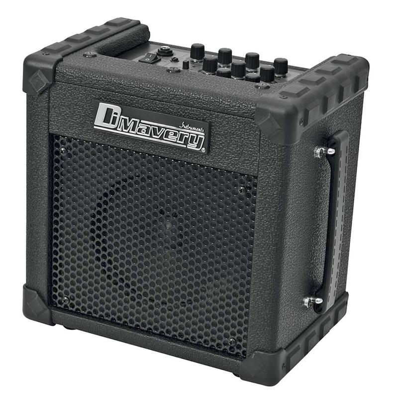 DIMAVERY Kitaravahvistin Deluxe-1 on Laadukas kitaravahvistin mikkisisäänmenolla, musta 10W vahvistin. 6,5