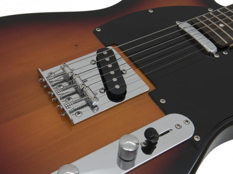DIMAVERY Telecaster TL-401 E-Guitar, Sunburst väritys, todella siisti telecaster-mallinen kitara.