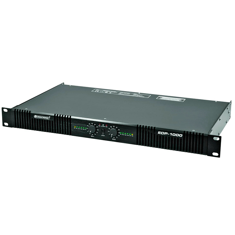 OMNITRONIC EDP-1000 päätevahvistin 2x 550W 4ohms. Class D amplifier. Stereo PA amplifier with integrated SMPS