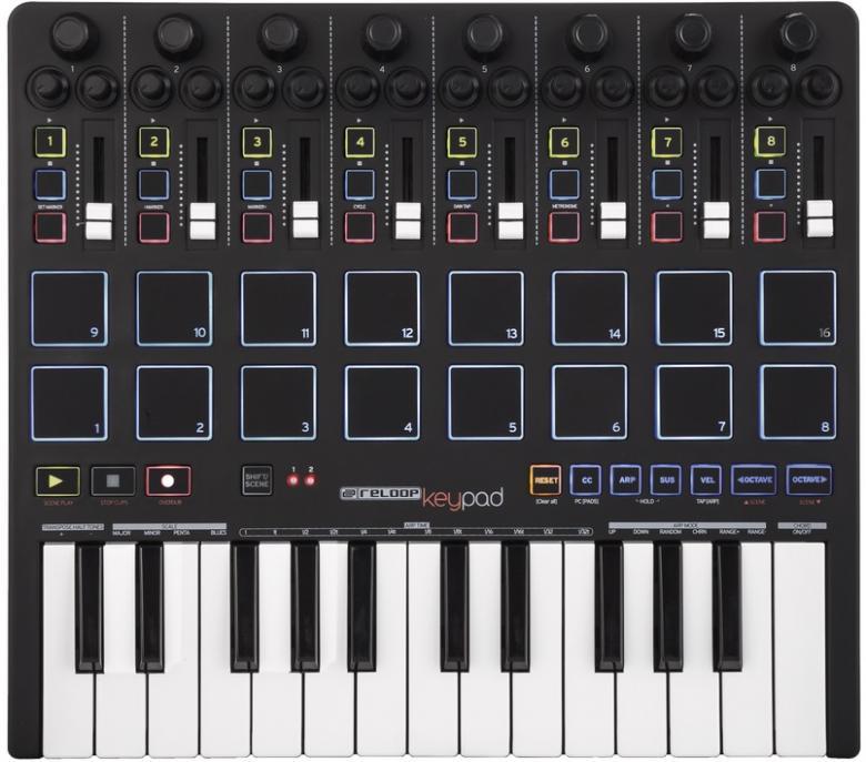 RELOOP KEYPAD MIDI DAW-ohjain kontroller, discoland.fi
