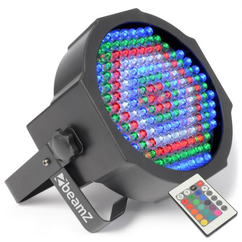 BEAMZ LED FLAT-PAR Spotti 154x 10mm RGBW, discoland.fi