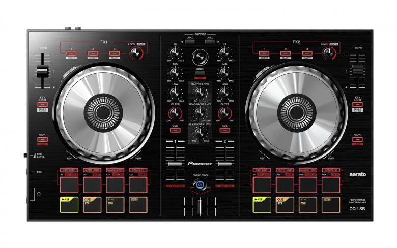PIONEER DDJ-SB DJ-kontrolleri musta on k, discoland.fi