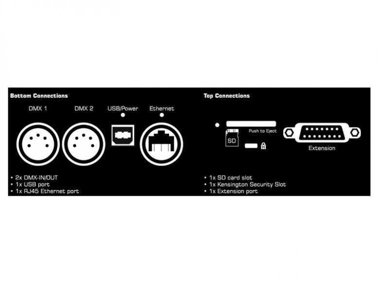 MADRIX MADRIXPlexus 1024 interface +license, Tämä USB sovitin on erittäin näppärä USB yhdyssilta valojen ja teitokoneen väliin. Sisältää softan madrix basic. Voidaan liittää aktiivisella hubilla useita universumeja. 1024:ta DMX/Artnet-kanavaa per universumi. Nopea tiedonsiirto USB 2.0 portti (Tyyppi B). Yhteensopiva Windows XP:n, Vistan ja 7 (32 & 64 bit-versiot). Kestävä metallikuori näyttävällä Saksalaisella designilla. USB-virta. Mitat (PxLxK):154 x 111 x 45 sekä paino 500gr.