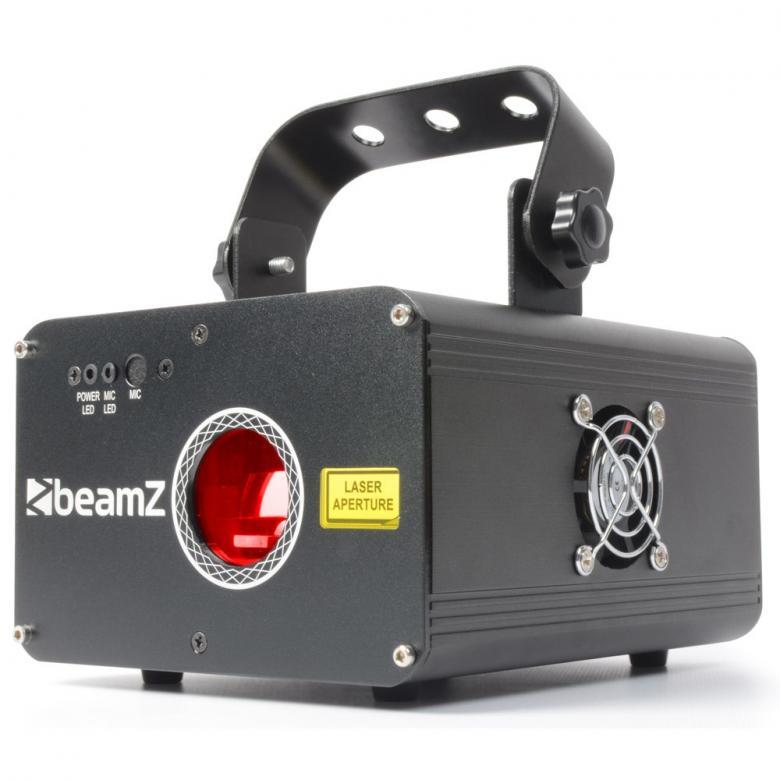 BEAMZ Oberon Laser valoefekti RGY DMX 225mW Oberon on varustettu 150mW 650nm punaisella ja 75mW 532nm vihreällä laser-diodeilla joiden avulla hämmästyttäviä