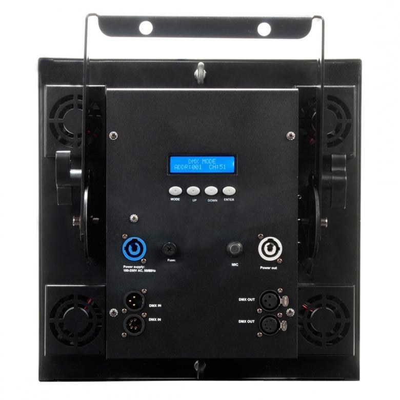 ADJ Dotz Matrix on LED pesuri-blinder 16x30W, jossa käytetään edistynyttä COB LED-teknologiaa joka sallii voimakkaan LED valonlähteen sijoittamisen erittäin pieneen tilaan. Tuloksena on turbo-ahdettu, korkean valontuoton, valo-pesuri jonka erittäin tasainen ja tehokas väriensekoitus saa voimansa kuudestatoista 30W TRI COB LEDistä. Dotz Matrixissa on myös pikseli-kartoitus kyvykkyys hämmästyttäviin visuaalisiin efekteihin ja tehoa löytyy roimat 430 Wattia massiivisella 60 asteen avauskulmalla. Mitat (PxLxK): 345 x 170 x 370mm Paino: 7.8kg
