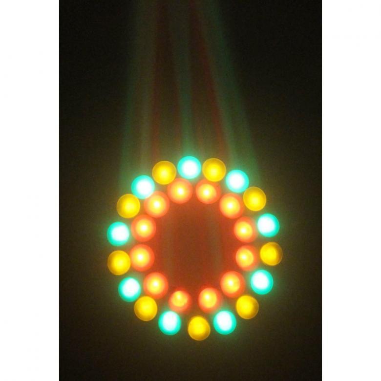 BEAMZ Moon Flower 60 RGBAW valoefekti LEDs- Legendaarinen sädekimppuefekti päivitettynä. Tämän LED-sädekimppu-efektin kanssa vietät paljon hauskaa. Sädekimppu-efektissä on 60x 5mm LEDejä hämmästyttävällä valontuotolla. Laite on erittäin helppokäyttöinen, vain töpseli seinään ja kaikki on valmiina toimintaan. Toimii täysin omillaan ja laite ohjautuu sisäisillä ohjelmilla tai ääni-ohjauksella. Täydellinen efekti mobiili-DJ:lle, live-esiintymisiin ja muihin liikkuviin ratkaisuihin mutta voidaan liittää kiinteään valosuunnitelmaan keilaradoille, discoihin, clubeille jne... LEDien määrä60x 5mm LEDiä (Punainen, Vihreä, Sininen, Keltainen ja Valkoinen), Paino 1kg