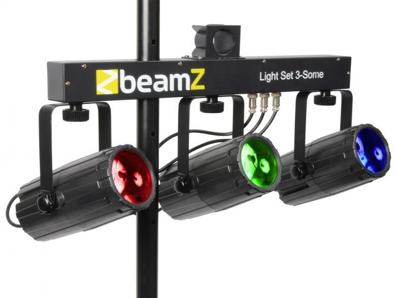 BEAMZ 3-Some valosetti 3x 57 RGBW LEDeil, discoland.fi