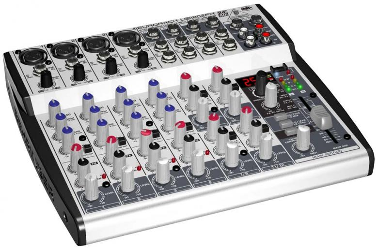BEHRINGER Eurorack UB1202FX efekteillä Mikseri, 12 balansoitua high headroom linjatuloa! 4 mikrofoni-etuastetta! Hieno pikku mikseri kierto säätimillä!efekti prosessori, jossa 100 huippuluokan presettiä. 4 Mikrofonietuastetta: State-of-the-art IMP