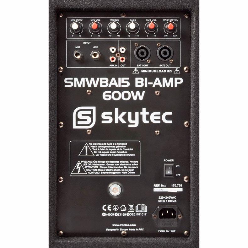 SKYTEC SMWBA15 aktiivi-subwoofer 15