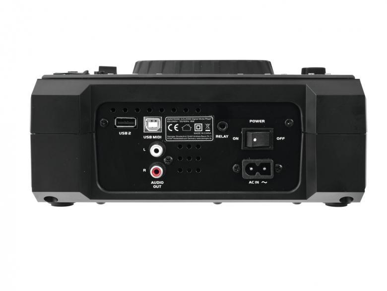 OMNITRONIC DJS-2000 DJ player on DJ-soitin CD:lle, USB-muisteille ja DJ-ohjelmistoille. USB-audio linkitys, kaksi soitinta voi toistaa musiikkia samalta USB-muistilta. Kontrolloi mitä tahansa MIDI-yhteensopivaa DJ-softaa (esim. Traktor). Kahta virtuaalista dekkiä voidaan ohjata yhdellä soittimella. Mitat 218 x 296 x 104 mm sekä paino 2,5kg.