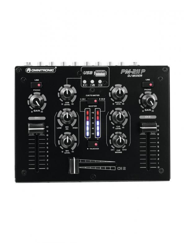 OMNITRONIC B-STOCK!!Poisto!! PM-211P Pieni ja näppärä DJ-mikseri, 2 (2x phono, 2x line) sekä Mp3-soitin! Tämä tuote soveltuu loistavasti kotikäyttöön sekä satunnaisesti keikkailevalle tiskijukalle tai vaikkapa Pub käyttöön, kun vain muutama ohjelmalähde! Mp3 soittimella voidaan hoitaa esim. taustamusiikki DJ:n poissa ollessa.