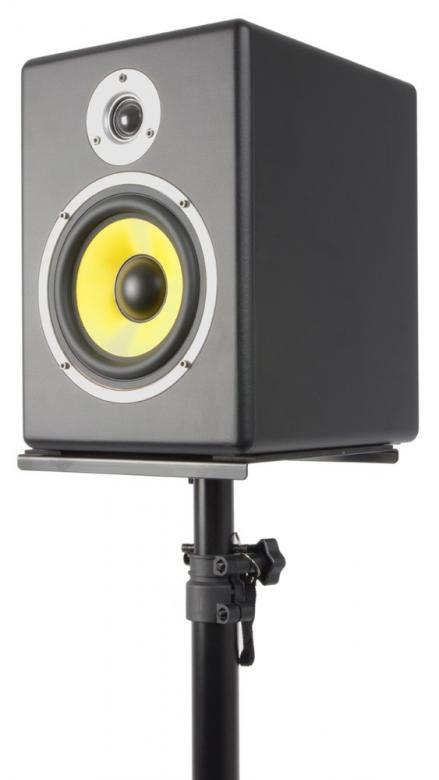 VONYX Monitorikaiutinteline säädettävä korkeus, levyn koko 23x23cm.  Korkeus säädettävissä 75-130cm, paino 3.75kg. Maksimi kuorma 20kg.