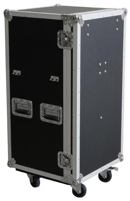 POWERDYNAMICS PD-FA5 7 vetolaatikon ja pöydän siirrettävä työpiste. Iso ja vankka laatikosto kaikkien roudaus-tarpeiden säilöntään. Ei enää asennusmateriaalia, kaapeleita, mikrofoneja jne.. omilla teillään. Laatikko on tehty vankasta laminoidusta vanerista. 7 lokeron laatikosto, taittuvat kantokahvat, perho-lukot ja 3.5