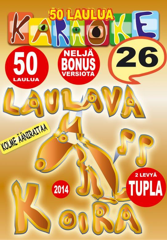 LAULAVAKOIRA Vol 26 karaoke tupla DVD le, discoland.fi