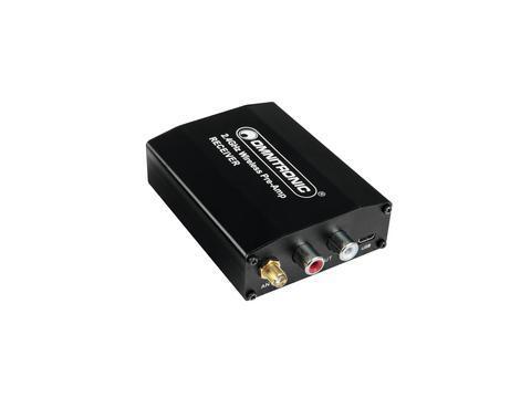 OMNITRONIC WS-1R 2,4GHz Vastaanotin Digitaalinen langaton äänijärjestelmä 2.4 GHz, USBllä. Tämä helppo käyttöinen langaton 2.4GHz äänilaite on todellinen läpimurto langattomassa plug-and-play äänisignaalin siirrossa. Järjestelmä synkronoi vastaanottimet yhteen lähettimeen. Synkkaus aktivoituu yhtä nappia painamalla ja löytää automaattisesti parhaan taajuuden. 2.4GHz kantoaalto mahdollistaa lähetyksen jopa 50 metrin päähän ihanneolosuhteissa. Langaton äänen siirto, langaton audio.