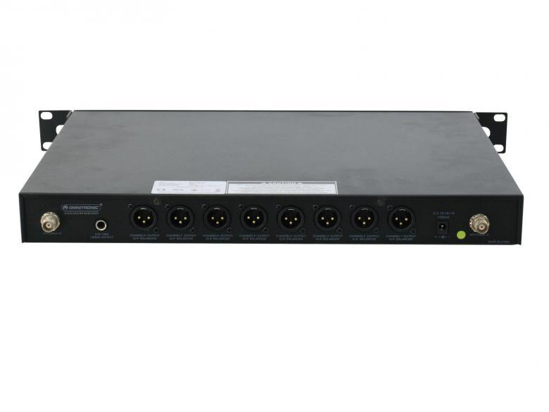 OMNITRONIC WCS-800 langaton konferenssimikrofoni-järjestelmä, langaton toiminta AA-paristoilla, 8-kanavainen toiminta, räkki-asennettava 1U vastaanotin, balansoitu XLR-ulostulo jokaiselle mikrofonille, 6.3mm plugi-yhdistetylle signaalille. HUOM!!! 30.12.2014 käytöstä poistuvat taajuudet