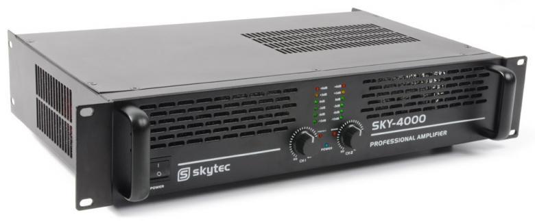 SKYTEC SKY-4000 II PA Amplifier 2x 2000W, discoland.fi