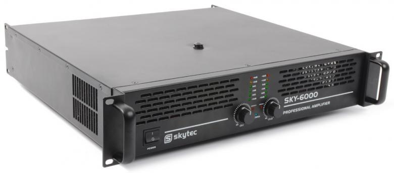 SKYTEC SKY-6000 II PA Amplifier 2x 3000W, discoland.fi