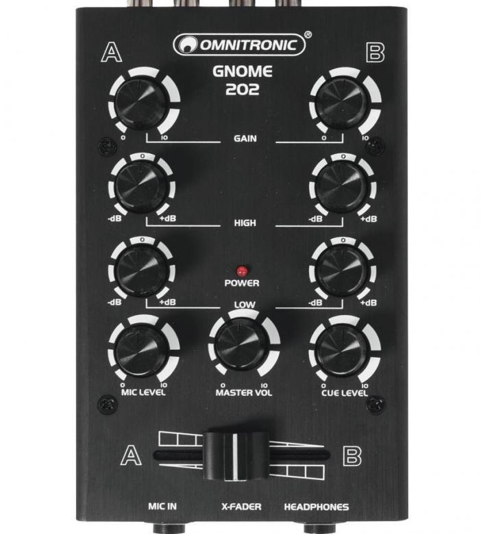 OMNITRONIC GNOME-202 Mini mikseri musta , discoland.fi
