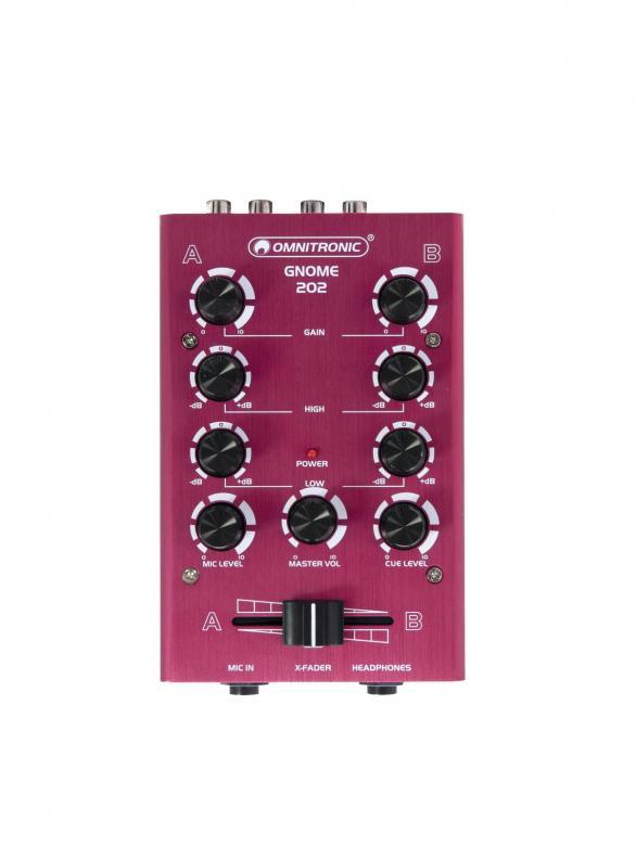 OMNITRONIC GNOME-202 Mini mixer - Punain, discoland.fi