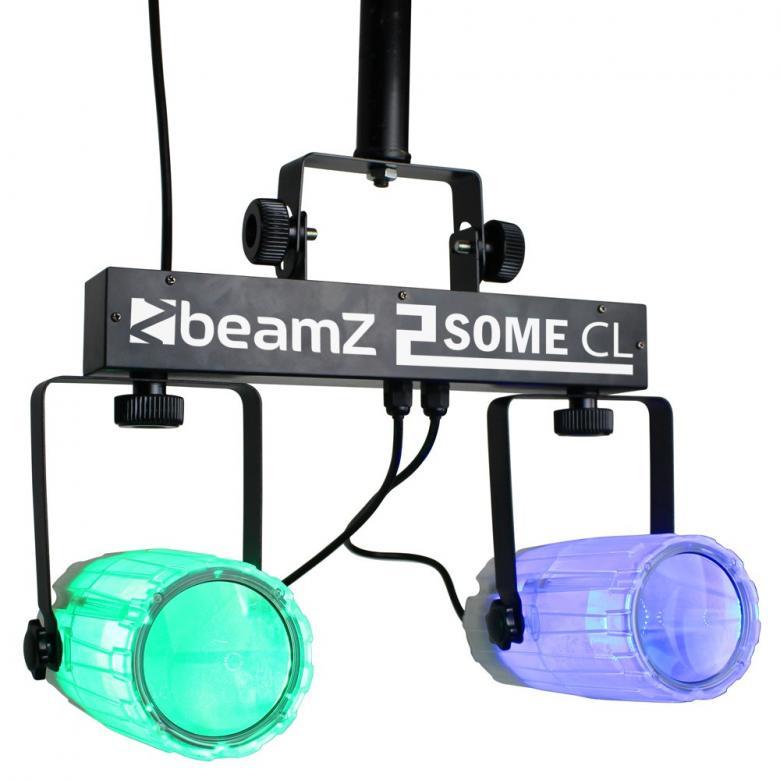 BEAMZ 2-Some LED-valosetti 3x57 RGBW. LE, discoland.fi
