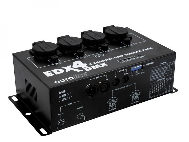EUROLITE EDX-4 DMX Himmennin pakki dimme, discoland.fi