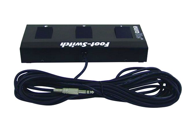 EUROLITE Foot Controller with stereo jack, Jalkaohjain tuotteille, DTB-405, CLS-81, CLS-41, KRX-16