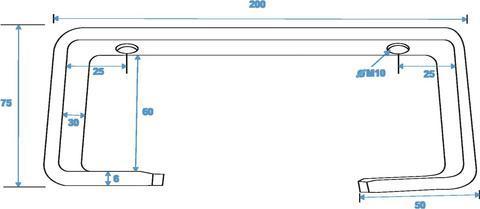 EUROLITE TCH-50/20 C-hook 20cm for 50 mm pipe, alu, max. load 15 kg