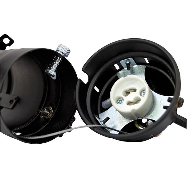 EUROLITE PAR-16 Mini spotti valonheitin 20-75W musta Spot GU-10 black 230V for GU-10 lamp