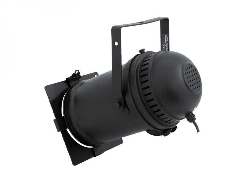 EUROLITE PAR-64 Profi spot with Par-Safe, cable + brake, black, Erittäin laadukas PAR heitin runko!!