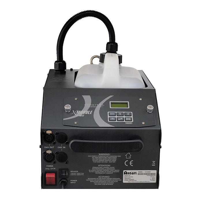 ANTARI X-515II erittäin korkeatasoinen ja tehokas 1500W savukone, jatkuva savun tuotto, keskisuuriin tiloihin X-10II LCD-kauko-ohjaimella. Heavy duty fog machine with controller