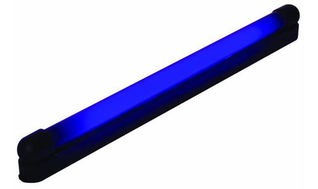 EUROLITE 45cm Mustavalosetti sisältää lamppu+ valaisin runko. Tämä on täydellinen plug in mustavalo setti. UV, ultraviolet, compelte set. Mitat 480 x 35 x 60 mm  sekä paino 300gr.
