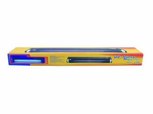 EUROLITE 60cm UV fixture PC 20W UV-tube, Mustavalosetti sis. lamppun ja valaisinrungon heijastimella