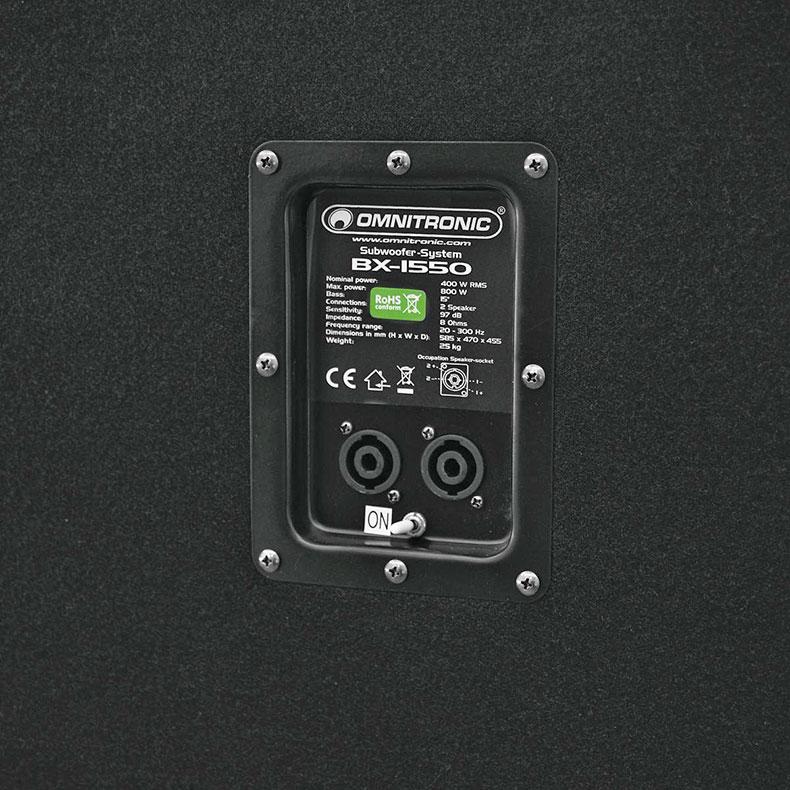 OMNITRONIC BX-1550 passiivisubwoofer 15