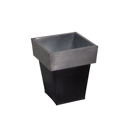 DECO Design Flowerpot square zinc/black 20cm