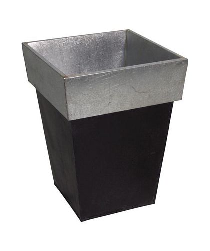 DECO Design Flowerpot square zinc/black 40cm