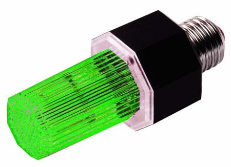 EUROLITE strobe with E-27 base, green