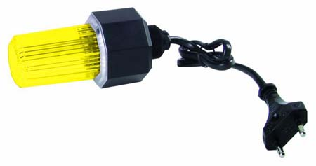 EUROLITE strobe w. cable and plug, yello, discoland.fi