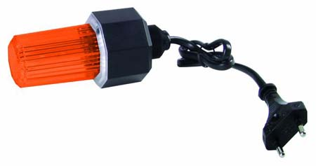 EUROLITE strobe w. cable and plug, orange
