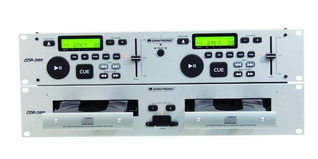 OMNITRONIC POISTUNUT... TUOTE...CDP-385 silver, tupla cd soitin, relay<br /> 1 kpl demo tuote, ilman pakettia