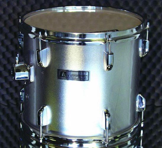 DIMAVERY Drum-Set DS-205 5pcs. silver, ilman peltejä