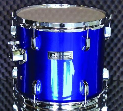 DIMAVERY Drum-Set DS-205 5pcs. blue, rumpusarja ilman peltejä