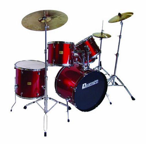 DIMAVERY Drum-Set DS-205 5pcs. black, täydellinen täysimittainen rumpusetti. Ilman peltejä.
