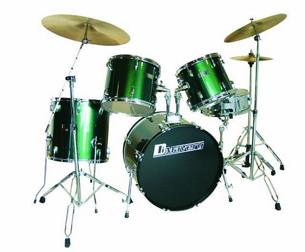 DIMAVERY Drum-Set DS-205 5pcs. green. Ru, discoland.fi