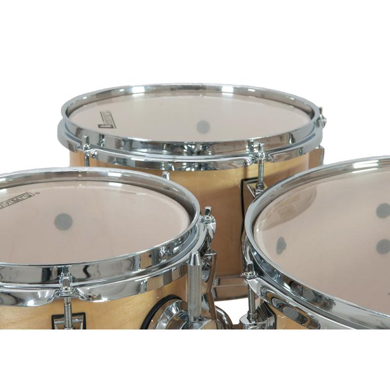 DIMAVERY Drum-Set CDS Cocktail rumpusetti, vaahtera. Erittäin laadukas, lakattu pinta, kromiset metalliosat. Täydellinen toimitus, valmis soittoon.
