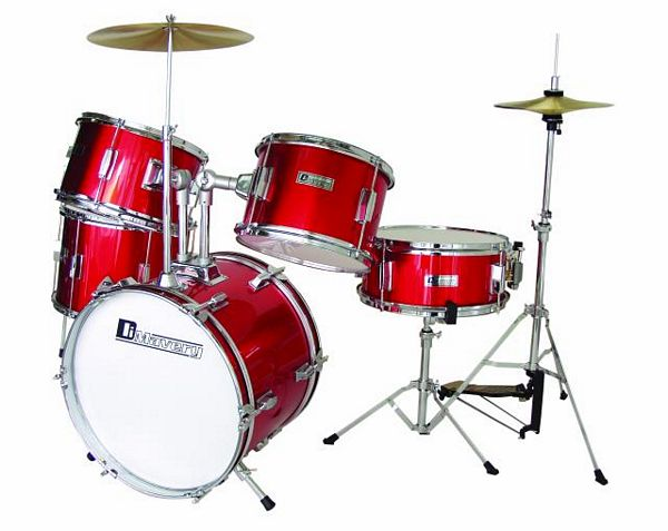 DIMAVERY Drum-Set Kids JDS-305 red 5pcs,, discoland.fi